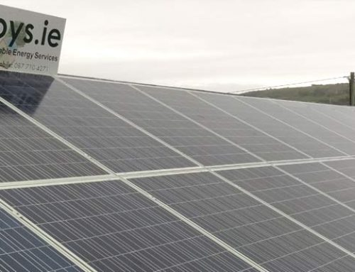 Photovoltaic solar system installed on a GAA club in Co Clare