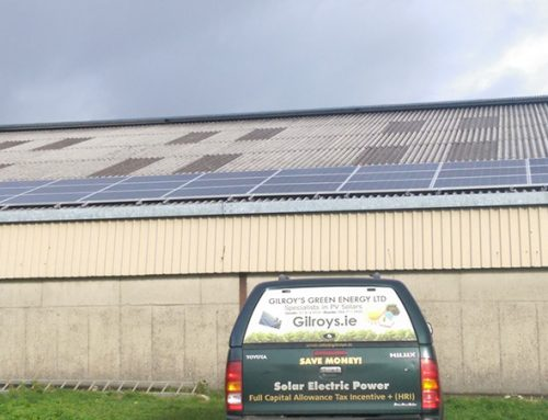 Photovoltaic solar system installed and commissioned on a farm in Kerry