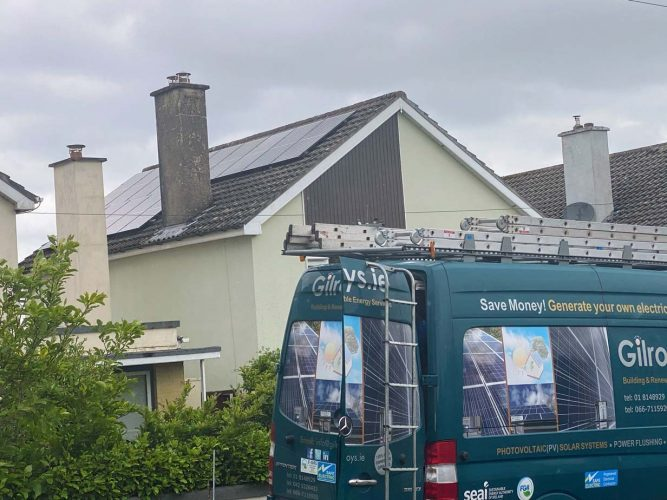 Qcell Panels photovoltaic solar system limerick